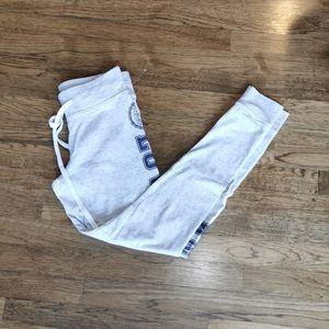 Victoria's Secret Pink Yoga Leggings Light Grey S